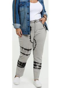Calça Jeans Cigarrete Feminina Tie Dye Plus Size Marisa