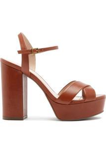 Sandália Salto Meia Pata Brown | Schutz