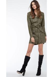 acf62b812 ... Vestido Chemise Militar Verde Militar - 38