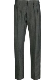 Dondup Stevie Pleated-Front Trousers - Cinza