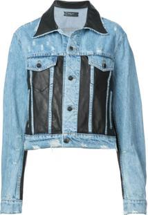 Amiri Jaqueta Jeans Com Recortes - Azul