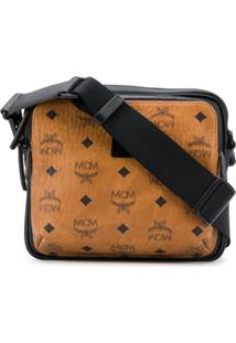 Mcm Logo Print Shoulder Bag - Neutro