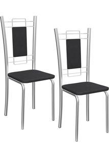 Kit 2 Cadeiras Florença Preta - Kappesberg