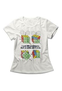 Camiseta Feminina Cubo Mágico Off-White