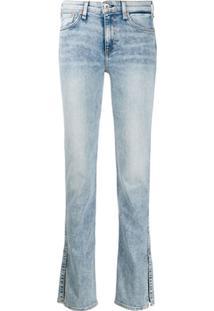 Rag & Bone Calça Jeans Reta Cate Cintura Média - Azul
