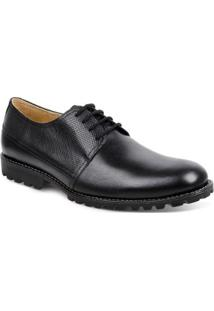 Sapato Casual Couro Derby Sandro Moscoloni Nca Masculino - Masculino-Preto