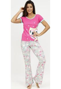 Pijama Coruja - Rosa & Cinzapuket