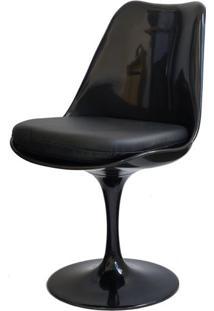 Cadeira Saarinen Preta (Com Almofada Preta) - 15042 - Sun House