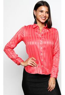 bc8372db70 Ir para a loja  -68% Camisa Acetinada Listrada - Coralvip Reserva