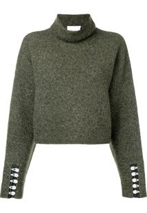 3.1 Phillip Lim Cropped Turtleneck Pullover - Verde