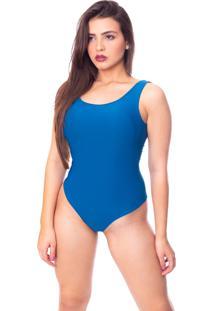 Body Moda Vicio Regata Com Bojo Decote Costas Com Elástico Azul Petróleo - Kanui