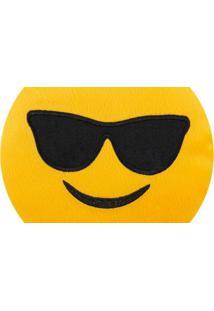 Almofada Capital Do Enxoval Emoji Óculos Escuro Estampado
