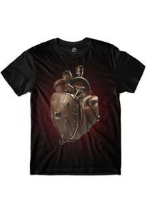 Camiseta Bsc Coração De Máquina Madeira Masculina - Masculino