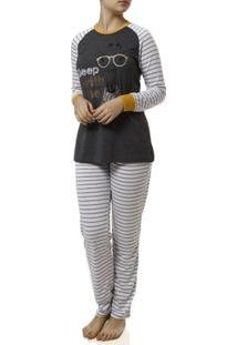 Pijama Longo Dk Feminino - Feminino