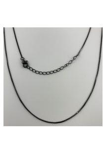Corrente Veneziana Rodio Negro Em Prata 925