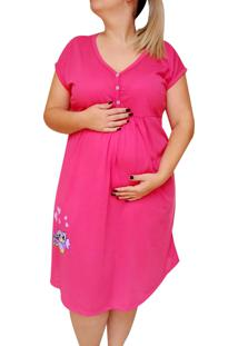 Camisola Plus Size Amamentaã§Ã£O Atã© O Tamanho 58 Coruja - Linda Gestante - Pink - Feminino - Poliã©Ster - Dafiti