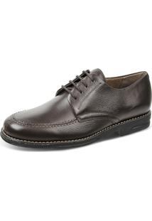 Sapato Social Derby Sandro Moscoloni Relax Feet Anti Stress Com Palmilha Magnética Marrom Escuro