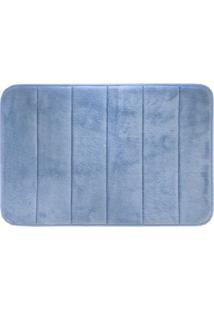 Tapete De Banheiro Super Soft Ii Azul 60X40 Cm