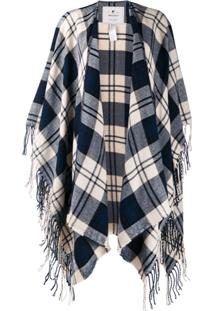 Woolrich Checked Shawl Cardigan - Azul