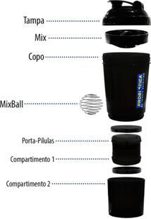 Coqueteleira Shaker Probiótica Com Mola 500 Ml