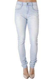Calça Jeans Skinny Calvin Klein Feminina - Feminino-Jeans Claro