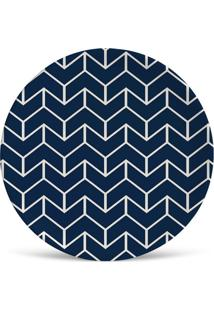 Prato De Sobremesa Lakshmi Azul E Branco 2,5X20X20 Cm