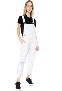 Macacão Calvin Klein Jeans Logo Branco