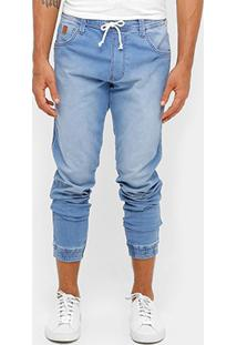 Calça Jeans Jogging Triton Indigo Bord Masculina - Masculino