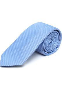 Gravata Sergio K Slim Geométrica Azul