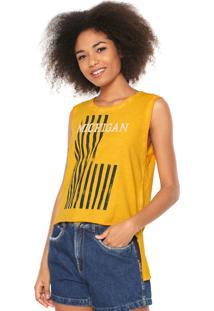 ... Regata Calvin Klein Jeans Estampada Amarela d2543094d9