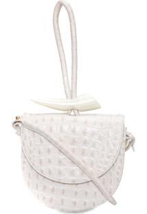 Bolsa Feminina Unique Croco - Off White