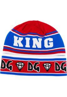Dolce & Gabbana Graphic And Logo Beanie Hat - Vermelho