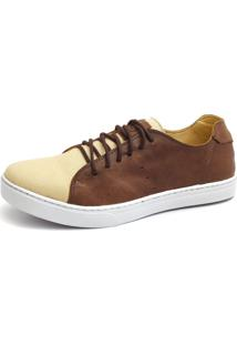 Sapatênis Shoes Grand Miami Tabaco/Bege