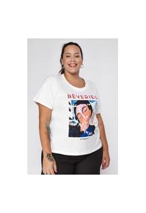 T-Shirt Almaria Plus Size New Umbi Rêveries Off-White
