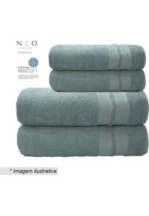 Toalha De Rosto Neo Allure- Azul Claro- 45X80Cm-Camesa