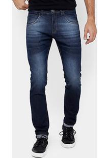 Calça Jeans Skinny Rock & Soda Stone Escura Masculina - Masculino