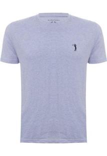 Camiseta Lisa Aleatory Masculina - Masculino-Azul Claro