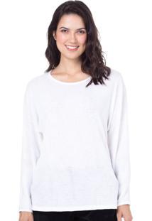Camiseta Manga Longa Homewear Off White | 589.0718
