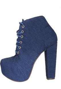 Bota Ana Luiza Calçados Karina Jeans Azul