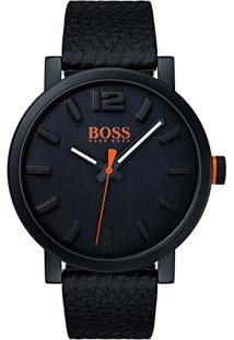 Relógio Hugo Boss Masculino Couro Preto - 1550038