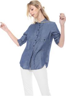 Camisa Lacoste Bolsos Azul