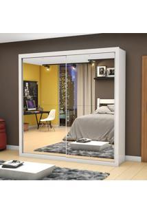 Guarda-Roupa Salvador Premium 2 Portas De Correr Com Espelho Branco - Mezzanine Móveis