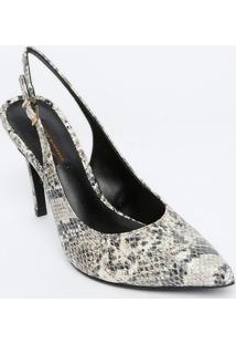 Sapato Chanel Em Couro - Bege Claro & Preta - Salto:Jorge Bischoff