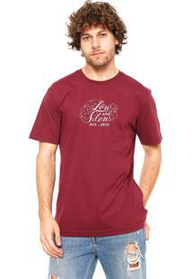 Camiseta Mcd Low And Slow Vinho