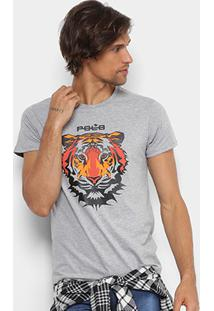 Camiseta Rg 518 Tigre Silk Gel Masculina - Masculino-Mescla