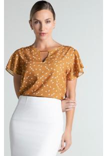 Blusa Feminina Caramelo Estampada