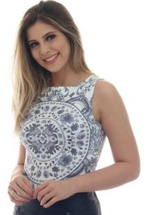Regata Estampa Azulejo Premium feminina  5681129d26d