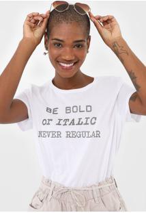Camiseta Enfim Lettering Branca - Kanui