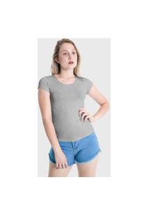 Camiseta T-Shirt Básica Lynnce Cinza