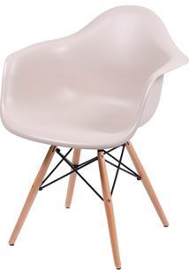 Cadeira Eames Com Braços E Base De Madeira Fendi